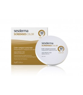SCREENSES COMPACT SUNSCREEN WITH COLOUR SPF 50 BROWN